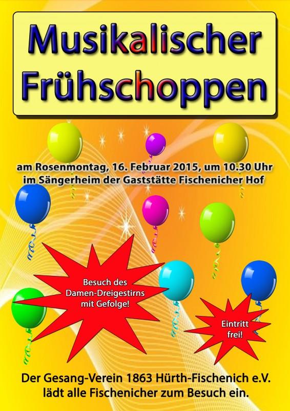 Einladung, Karneval, Rosenmontag, Musikalischer Frühschoppen