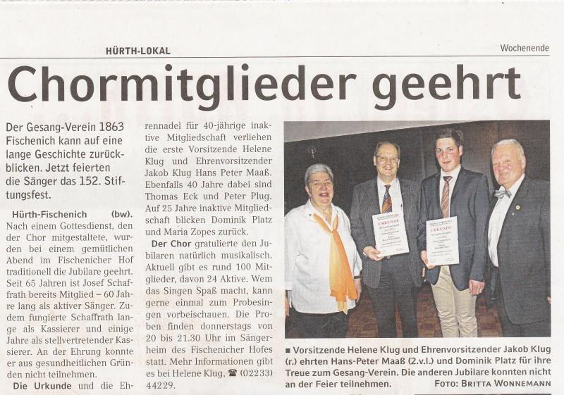 2015 Presse Wochenende Stiftungsfest